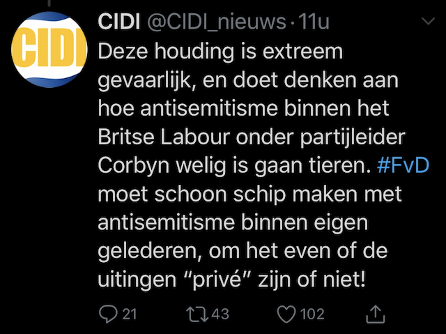 CIDI tweet vs FvD
