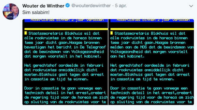 Teletekst De Winter Telegraaf